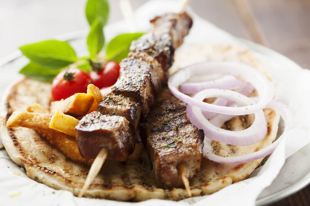 Tasting Greek Street-Side Cuisine With Souvlaki