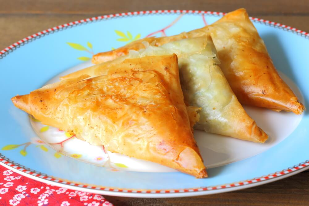 Cheese Tiropitas Triangles